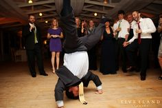 Guest with crazy dance moves at the reception