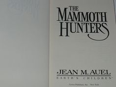 Book Childrens Jean M. Auel 'The Mammoth Hunters' by booksvintage, $19.00