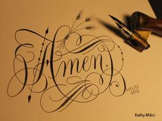 cool copperplate calligraphy.