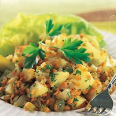 German potato-lentil-salad (omit the olive oil)