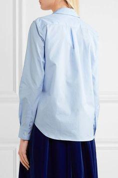 Comme des Garçons GIRL - Ruffle-trimmed Cotton-poplin Shirt - Blue - x small