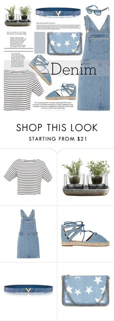 """Denim-ous"" by deepalika-deb ❤ liked on Polyvore featuring Nude, Dorothy Perkins, Aquazzura, STELLA McCARTNEY, Ray-Ban, denim and polyvorecontest"