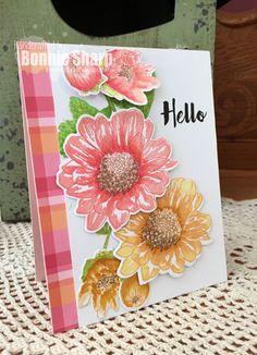 The Lucky Clucker, Altenew, Altenew Spring Daisy, Hello card