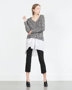 BROOCH SWEATER - View all - Knitwear - WOMAN | ZARA Ukraine