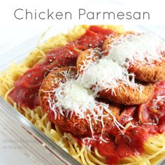 Chicken Parmesan. Quick and easy meal.