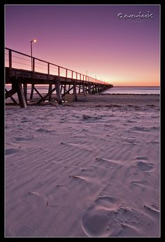 Sunset at Semaphore Beach n Jetty, Adelaide_ South Australia