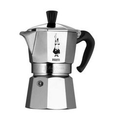Bialetti Moka Express Espresso Maker - For an excellent cup of Italian coffee, Moka Express is the classic household coffee pot and the only one to bear the unique mark of the little fellow with the moustache.