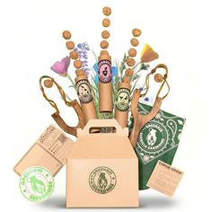 Greenaid Seed Bombs Guerilla Gift Box  Flowers by GreenaidEtsyShop, $39.99 Have extra space, follow the link, smaller pkgs available