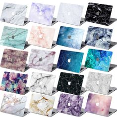 """Rubberized Marble Hard Case Cover For Macbook Pro 13 inch. Fit:  Pro 13"""" Retina Display A1502 Color: #17"""