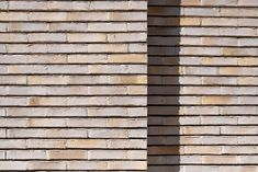 Randers Tegl brick - Unika RT 547: Yellow soft-moulded brick with white engobe and fired with coal. #Brickprojects #housestyle #homedecor #brickfacade #houseexterior #randerstegl #unika #architecture Brick Projects, Brick Facade, Online Images, Bricks, Fire, Colours, Architecture, Yellow, House Styles