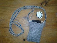 Crocheted phone bag