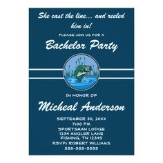 Funny Fishing Angling Bachelor Party Celebration Card