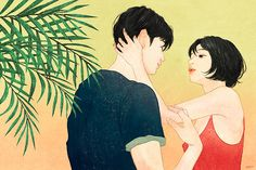 Artist Zipcy captures the intimacy between a couple in her relationship drawings. Each couple illustration shows the personal moments between the pair. Paar Illustration, Illustration Art Nouveau, Couple Illustration, Couple Drawings, Disney Drawings, Cartoon Drawings, Art Drawings, Relationship Drawings, Couples Anime