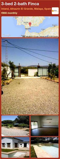 3-bed 2-bath Finca to Rent in Inland, Alhaurin El Grande, Malaga, Spain ►€900