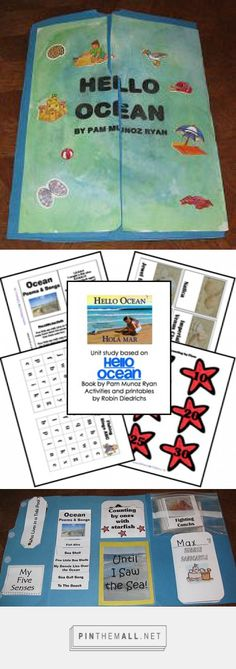 Lapbook Activities based upon the book Hello Ocean by Pam Munoz� Book and Lesson Themes Ocean, Tide Pool, Shell Memory, ABC Fishing, Counting by 1s, Counting by 5s, Counting by 10s, Letter O, Shapes, Seagulls, Float or Sink Experiment