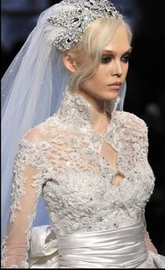 "Zuhair Murad Details - looks suspiciously like the ""White Chocolate"" wedding dress Wedding Veils, Wedding Bride, Dream Wedding, Wedding Dresses, Gorgeous Wedding Dress, Beautiful Gowns, Beautiful Bride, Zuhair Murad, Wedding Gowns With Sleeves"