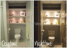 bathroom shelving over toilet