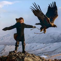 This 13-year-old's dream is to become a record-breaking eagle hunter. Aisholpan Nurgaiv lives in a nomadic community in Mongolia, where fathers pass on the tradition of training golden eagles to their sons. While the elders in her community insisted that a woman can't hunt, Aisholpan was prepared to prove them wrong. Her story is the subject of a new documentary called The Eagle Huntress, which has already been shortlisted for an Oscar.  Photo: Allstar/Sony Pictures Classics