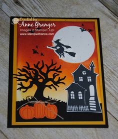 Spooky Fun stamp set and Halloween Scenes Framelits