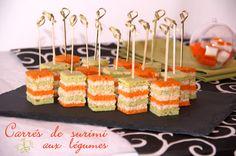 amuse-bouches carottes légumes verts et surimi