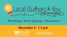 I'm looking forward to this year's Local Authors & You event at The Viridian Event Center. Come meet local authors and attend free writing classes. #RobinGlassey