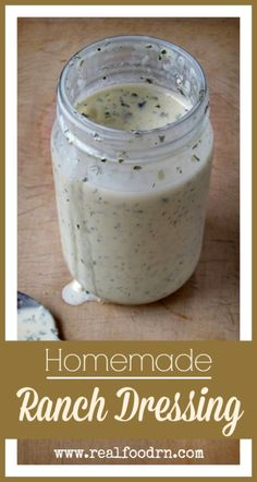 Quick and easy to make, without all the soybean oil and MSG. Quick and easy to make, without all the soybean oil and MSG. Sauce Recipes, Whole Food Recipes, Cooking Recipes, Healthy Recipes, Homemade Ranch Dressing, Fermented Foods, Dressing Recipe, Soup And Salad, Salad Bar