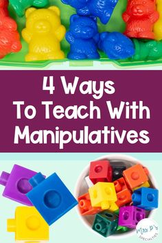 Visuals don't have to be flat laminated paper! Manipulatives are another form of visual supports and are very effective for students who need visuals & hands on activities. Use these 4 tips to integrate manipulatives into your lesson plans & direct instruction. Best of all, manipulatives give students another way to demonstrate their understanding and learning. These tips are a must for special education, inclusion, autism classes, life skills, multiply disabled programs & self-contained classes Autism Classroom, Special Education Classroom, Classroom Resources, Classroom Ideas, Writing Lesson Plans, Writing Lessons, Lesson Planning, Motor Skills Activities, Hands On Activities