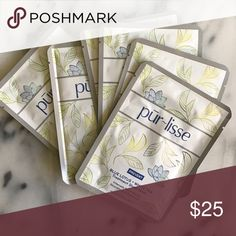 Purlisse Sheet Masks: Blue Lotus + White Tea (6) Lot of 6 pur~lisse Blue Lotus + White Tea sheet masks. Retail $8 each or $36 for box of 6! pur~lisse Makeup