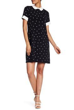 Image of CeCe by Cynthia Steffe Polka Print Short Sleeve Dress