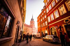 Shoot in old town of Warsaw