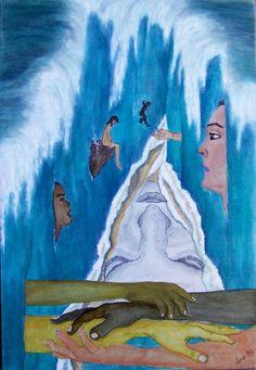 """""""I am You"""" Acrylic on canvas 60x40cm"""