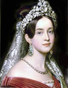 HM Queen Amalia of Greece (1818-1875) née Her Highness Duchess Amalie of Oldenburg, Princess of Holstein-Gottorp.    The most beautiful Queen ever