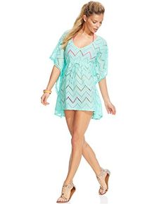 Miken Womens PomPom Poncho Tunic Swimsuit Cover L Mermaid Blue >>> Click image to review more details.(This is an Amazon affiliate link and I receive a commission for the sales) #LadiesSwimmingSuits