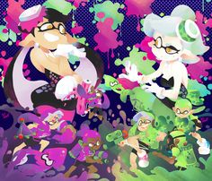Every single Splatfest piece I made. Shame this... - 3D ROD!