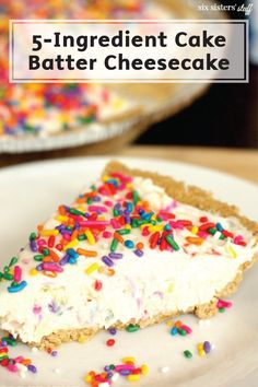 This rainbow dessert will have you beating the summer heat in one bite. Check out this recipe for 5-Ingredient Cake Batter Cheesecake for a no-bake sweet treat is more than delicious—it's easy!