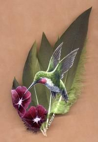 North American Song Bird Paintings on Feathers -
