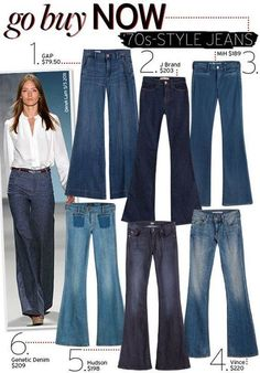 No more skinny jeans for me! Go Buy Now: Jeans - Celebrity Style and Fashion from WhoWhatWear Fashion Mode, 70s Fashion, Denim Fashion, Womens Fashion, Fashion Trends, Fashion News, Outfit Jeans, Moda Casual, Casual Chic