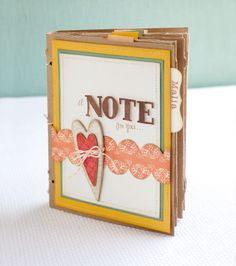 "Make a book of letters for a thoughtful project idea. Envelopes were made using the Art Philosophy Cricut® cartridge, cut at the 6 ¼"" size setting on Kraft Cardstock. #CTMH"