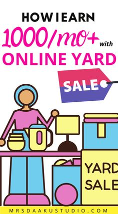 Online yard sale to earn money online. Want to make money fast or earn money online? Planning a yard sale? Here are some yard sale tips for making money at a yard sale, pricing, etc. from a yard sale pro. Work From Home Jobs, Make Money From Home, Way To Make Money, Earn Extra Cash, Extra Money, Free Money Now, Online Garage Sale, True Money, Earn Money Online Fast