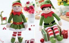 Bernard-and-Bernadette-Free-Navidad-Elfos de tejer Patrones