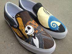 Custom Hand Painted Shoes - Nightmare Before Christmas via Etsy