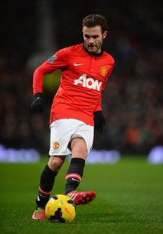 Juan Mata in action during the Barclays Premier League match between Manchester United and Cardiff City at Old Trafford on January 28, 2014 in Manchester, England.