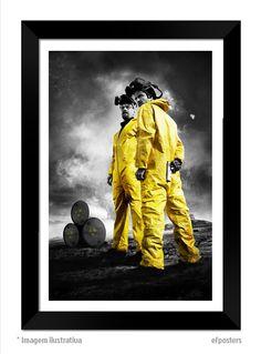 Poster Breaking Bad | Moldura Preta ou Branca - R$55,00 #efposterss #efposters_oficial #quadros #posters #postersdeseries #breakingbad #posterbreakingbad