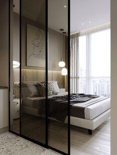 Studio Apartment Room Divider, Small Studio Apartment Design, Condo Interior Design, Studio Apartment Decorating, Modern Studio Apartment Ideas, Condo Design, Luxury Apartments, Small Apartments, Luxury Condo