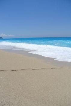 Sandy shore in Egremni Exotic Beaches, Mediterranean Sea, Greece Travel, Greek Islands, Far Away, Beautiful Beaches, Breeze, Paradise, Landscapes