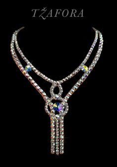 Ballroom accessories and ballroom jewelry made with Swarovski, available at… Bold Jewelry, Bling Jewelry, Crystal Jewelry, Diy Jewelry, Beaded Jewelry, Jewelry Making, Belly Dancer Costumes, Ballroom Costumes, Ballroom Jewelry