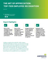 The Art of Appreciation: Top-Tier Employee Recognition