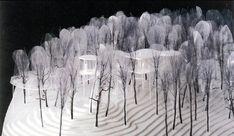 "archimodels: "" © SANAA – house – new york, usa – 2008 "" - Architektur Maquette Architecture, Landscape Architecture Model, Landscape Model, Architecture Graphics, Architecture Drawings, Architecture Design, Ryue Nishizawa, Planer Layout, Model Tree"