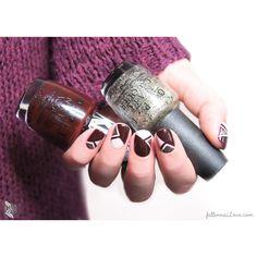 O.P.I triangle tape nails.