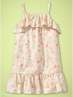 Gap Kids Floral flounce dress